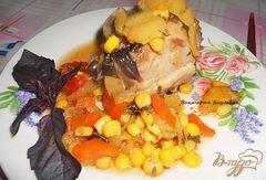 «Индейка с овощами» - приготовления блюда - шаг 5
