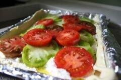 «Пирог со сладкими помидорами» - приготовления блюда - шаг 7