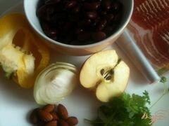 «Фасолевый салат с яблоком и беконом» - приготовления блюда - шаг 1