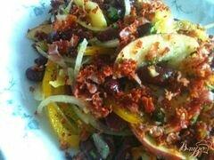 «Фасолевый салат с яблоком и беконом» - приготовления блюда - шаг 7