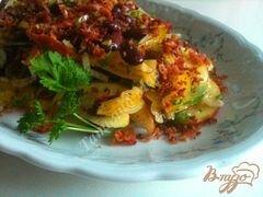 «Фасолевый салат с яблоком и беконом» - приготовления блюда - шаг 8