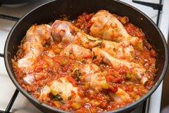 «Куриные ножки в томатном соусе» - приготовления блюда - шаг 4