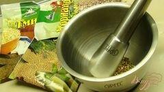 «Гриссини из ржаной муки. Хлебные палочки с жареным луком и тмином.» - приготовления блюда - шаг 1