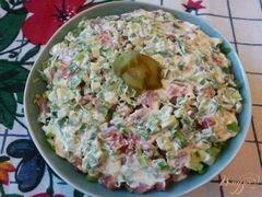«Рисовый салат с красной рыбой» - приготовления блюда - шаг 6
