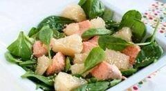 «Салат с лососем и помело» - приготовления блюда - шаг 5