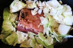 «Отварная солонина с капустой» - приготовления блюда - шаг 1