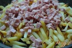 «Жареный картофель с фенхелем и ветчиной» - приготовления блюда - шаг 3