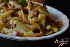 «Жареный картофель с фенхелем и ветчиной» - приготовления блюда - шаг 4