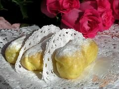«Эклеры с заварным лимонным кремом» - приготовления блюда - шаг 10