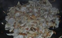 «Спагетти в грибном соусе» - приготовления блюда - шаг 3