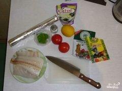 «Палтус в фольге» - приготовления блюда - шаг 1