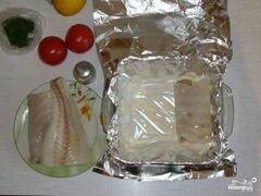 «Палтус в фольге» - приготовления блюда - шаг 2