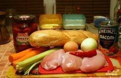 «Куриные котлеты с овощами» - приготовления блюда - шаг 1