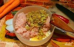 «Куриные котлеты с овощами» - приготовления блюда - шаг 4