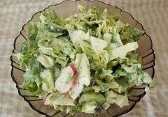 «Салат с огуречным соусом» - приготовления блюда - шаг 12