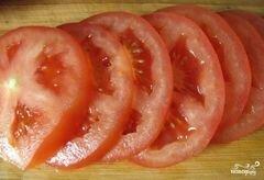 «Кабачки в кляре с помидорами» - приготовления блюда - шаг 4
