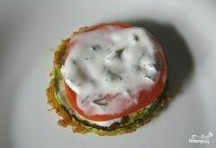 «Кабачки в кляре с помидорами» - приготовления блюда - шаг 8
