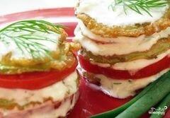 «Кабачки в кляре с помидорами» - приготовления блюда - шаг 9