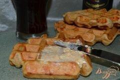 «Цельнозерновые вафли с творогом и сыром» - приготовления блюда - шаг 7