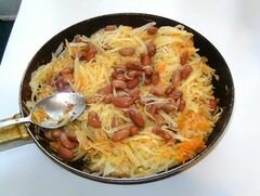 «Тушоная капуста с фасолью» - приготовления блюда - шаг 7