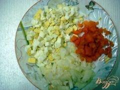 «Салат с копчёной курицей» - приготовления блюда - шаг 3