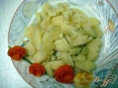 «Салат с копчёной курицей» - приготовления блюда - шаг 4