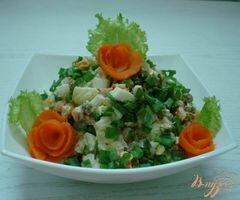 «Салат с копчёной курицей» - приготовления блюда - шаг 6