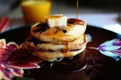 «Пышные оладьи на молоке» - приготовления блюда - шаг 7