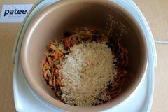 «Постный плов в мультиварке» - приготовления блюда - шаг 8