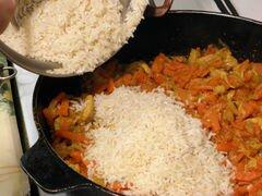 «Узбекский плов с курицей» - приготовления блюда - шаг 7