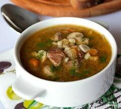 «Суп с грибами и мясом» - приготовления блюда - шаг 9