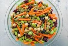 «Салат с соевыми бобами и шпинатом» - приготовления блюда - шаг 3