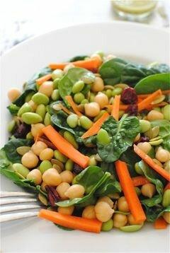 «Салат с соевыми бобами и шпинатом» - приготовления блюда - шаг 5