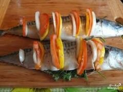 «Скумбрия в фольге» - приготовления блюда - шаг 4