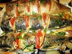 «Скумбрия в фольге» - приготовления блюда - шаг 6