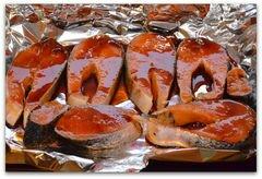 «Лосось запечённый в имбирно-медовом соусе» - приготовления блюда - шаг 3