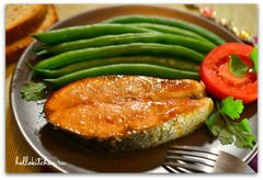 «Лосось запечённый в имбирно-медовом соусе» - приготовления блюда - шаг 4