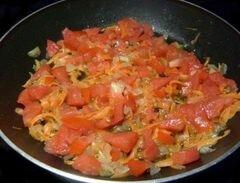 «Запеканка с овощами,омлетом и спагетти» - приготовления блюда - шаг 5