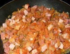 «Запеканка с овощами,омлетом и спагетти» - приготовления блюда - шаг 6