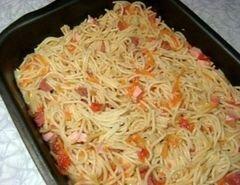 «Запеканка с овощами,омлетом и спагетти» - приготовления блюда - шаг 8