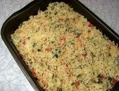 «Запеканка с овощами,омлетом и спагетти» - приготовления блюда - шаг 9