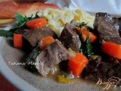 «Говяжье сердце с морковью в яблочном сидре» - приготовления блюда - шаг 10