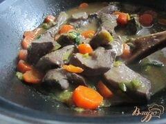 «Говяжье сердце с морковью в яблочном сидре» - приготовления блюда - шаг 9
