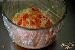 «Слоппи капустный салат с соусом» - приготовления блюда - шаг 3