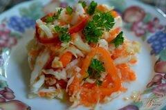 «Слоппи капустный салат с соусом» - приготовления блюда - шаг 4