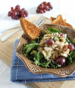 «Оздоровительный салат с тунцом Уолдорф» - приготовления блюда - шаг 4