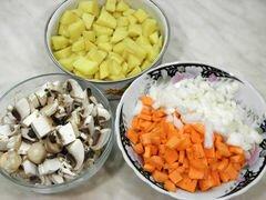«Куриный суп с зеленым горошком и грибами» - приготовления блюда - шаг 1