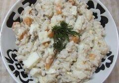 «Рыбный салат с рисом» - приготовления блюда - шаг 8