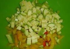 """«Спагетти """"Болоньезе"""" с перцем и кабачком» - приготовления блюда - шаг 3"""
