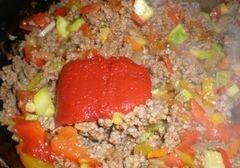 """«Спагетти """"Болоньезе"""" с перцем и кабачком» - приготовления блюда - шаг 6"""